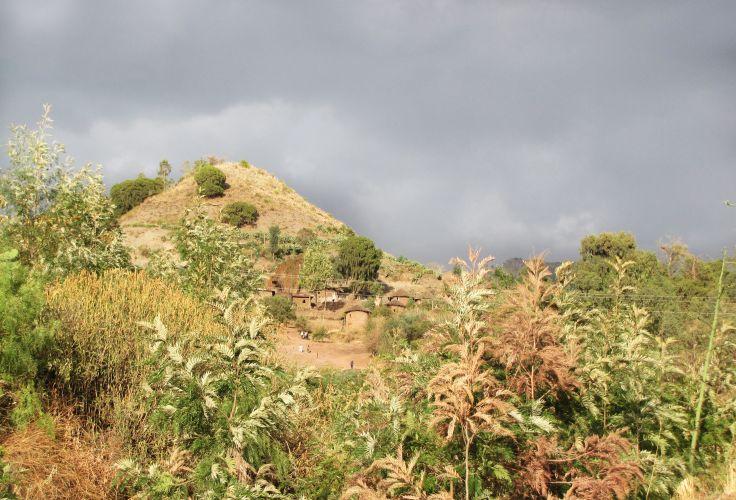 Maisons anciennes à Lalibela - Région Amhara - Ethiopie
