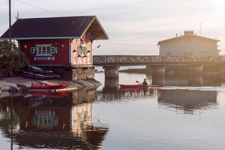 Kayak près du Cafe Regatta - Helsinki - Finlande