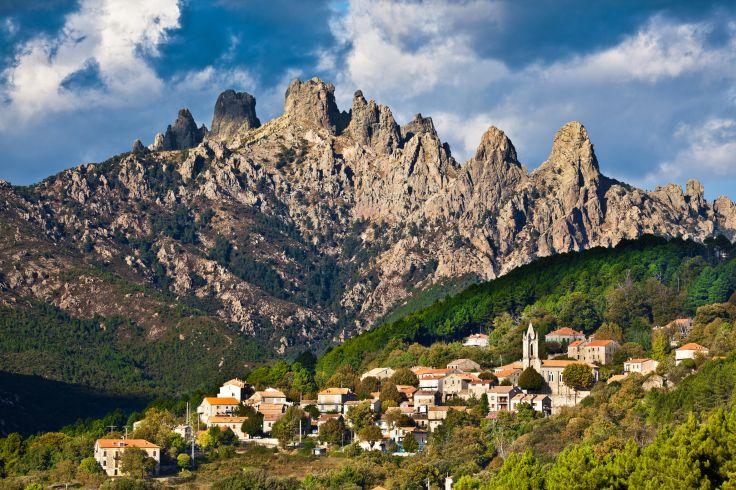 Village de Zonza - Aiguilles de Bavella - Corse du Sud - France