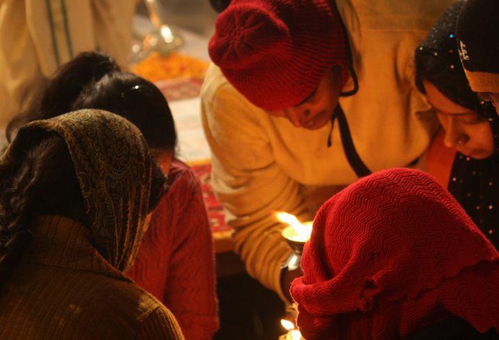 Cérémonie Ganga Aarti - Varanasi - Inde