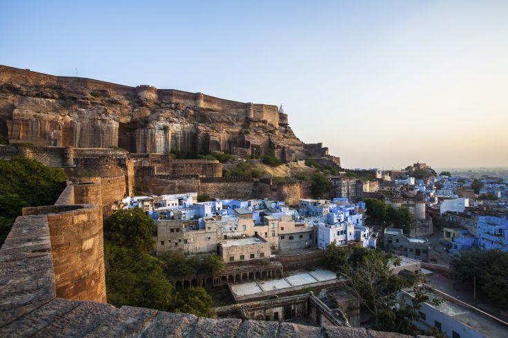 Fort de Mehrangarh et Ville Bleue - Jodhpur - Rajasthan - Inde