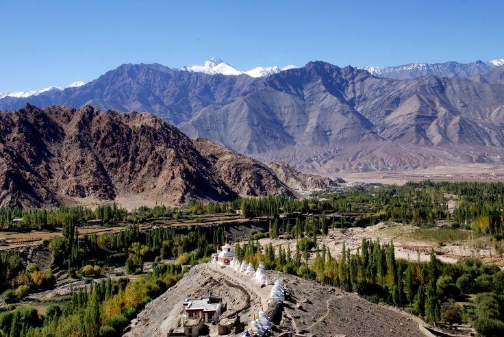 Vue depuis le monastère de Shey - Vallée de l'Indus - Ladakh - Inde