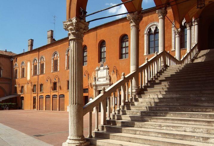 Piazza municipale - Ferrare - Italie