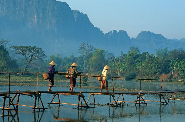 Rivière Nam Song - Vang Vieng - Laos