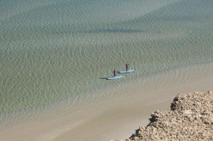 Bain de mer au Sahara - La lagune de Dakhla