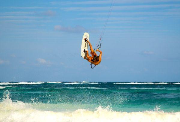 Séjour au Mexique : Tulum vu du ciel:  Kite-surf au Mexique