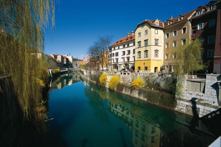 Rivière Ljubljanica - Ljubljana - Slovénie