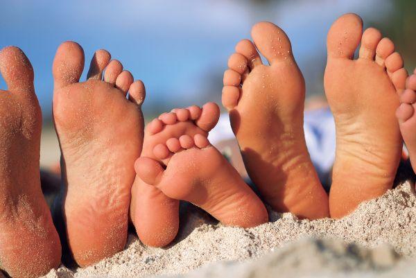 En famille au Telfair - Les pieds dans l'eau