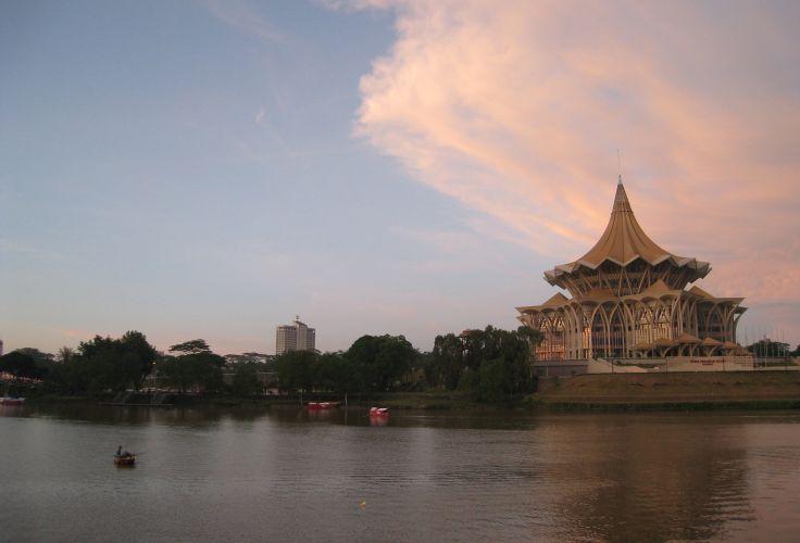 Sarawak River - Kuching - Bornéo - Malaisie