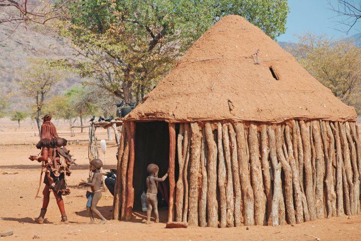 Village Himba près d'Epupa - Région de Kunene - Namibie