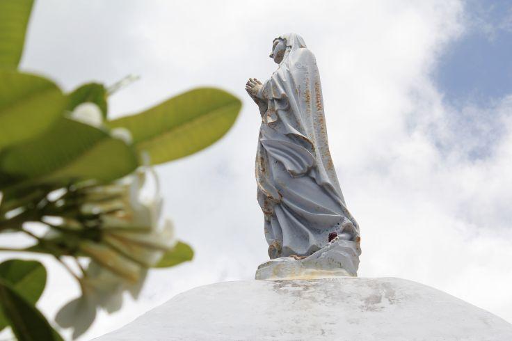 Vierge, détail de l'église de Lifou - Lifou - Îles Loyauté - Nouvelle Calédonie