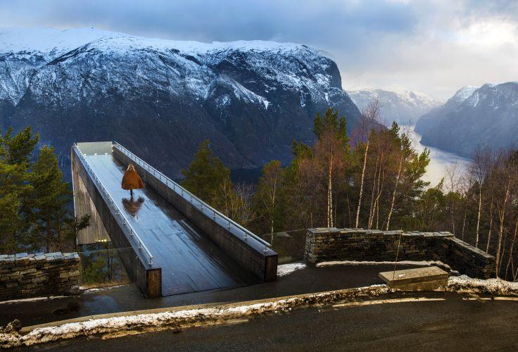 Gare de  Flåm point de vu - Norvège
