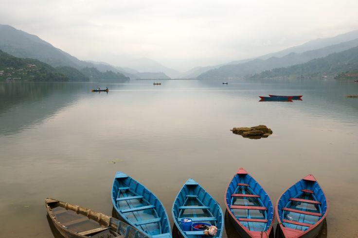 Lac Phewa à Pokhara - Région des Annapurna - Népal