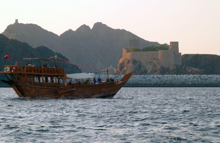 Boutre dans la baie de Mascate - Oman