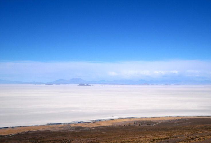 Salar d'Uyuni depuis le volcan Tunupa - Bolivie