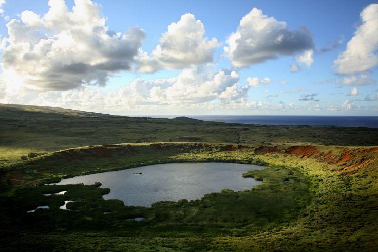 Volcan Rano Raraku - Ile de Pâques (Rapa Nui) - Chili