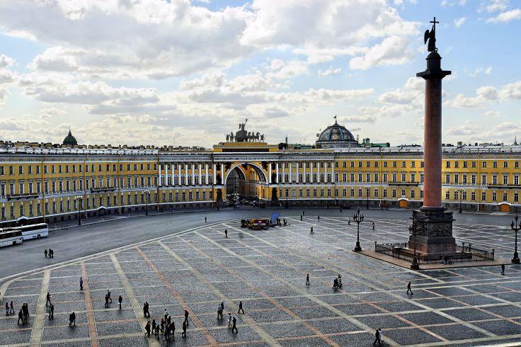 Place du Palais - Saint Petersbourg - Russie