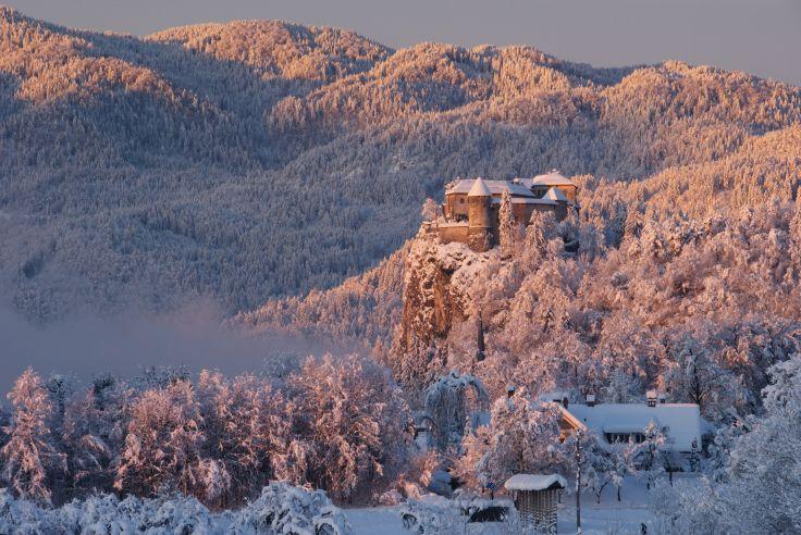 Neige d'ailleurs en Slovénie - De châteaux en chalet