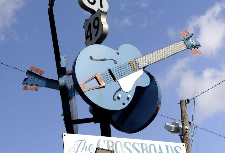 The Crossroads, intersection de la Route 61 et de la Route 49 - Clarksdale - Mississippi - Etats-Unis