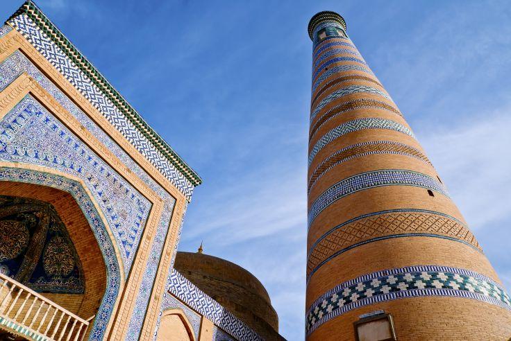 Minaret de la médersa Islam Khodja - Khiva - Ouzbékistan
