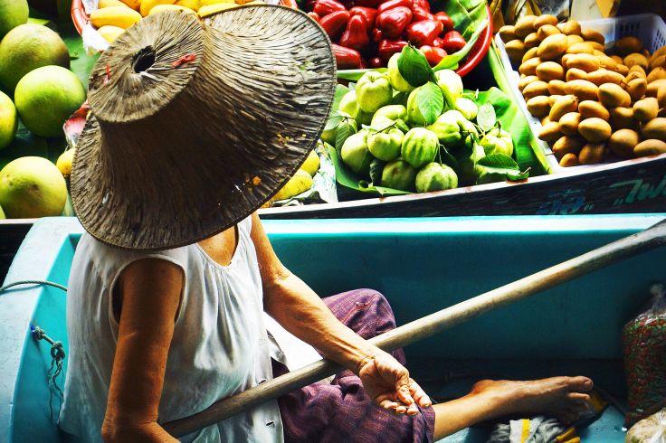 Marché flottant - Bangkok - Thaïlande