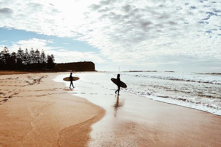 Session surf en Australie