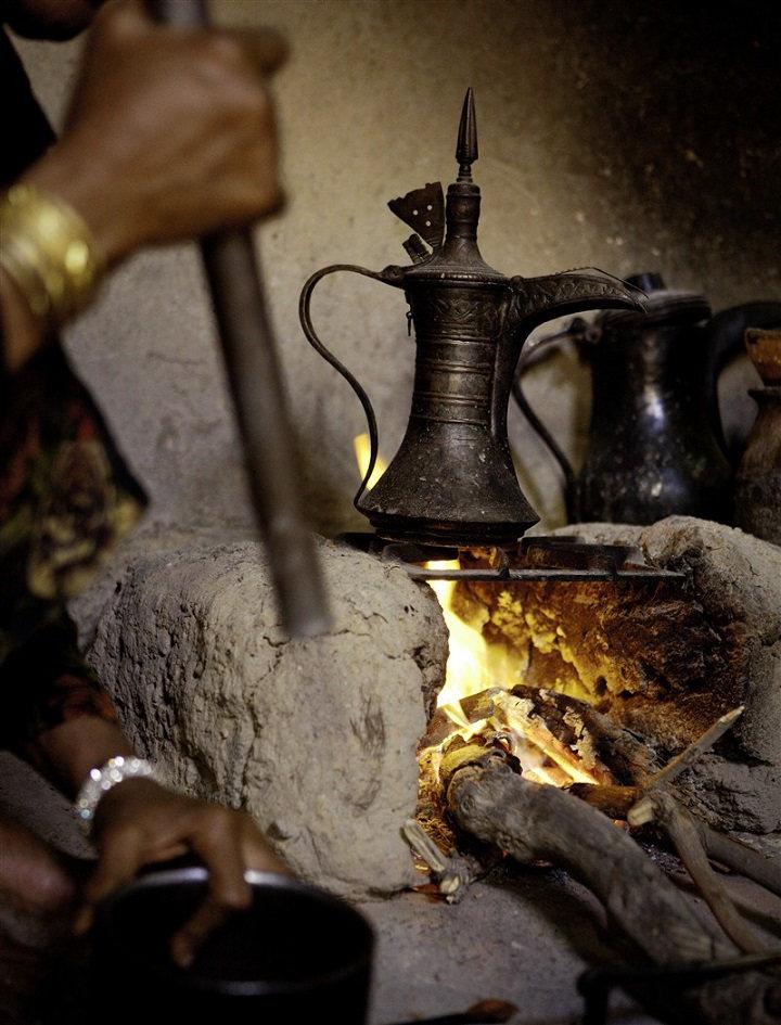 Thé et le feu à Oman