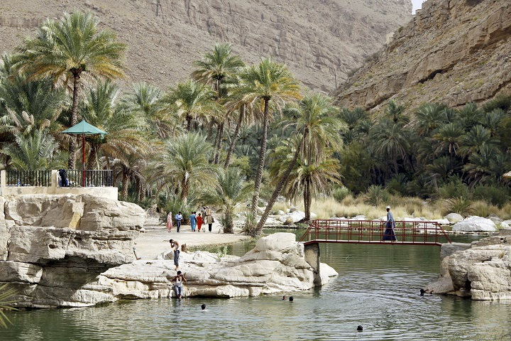 Vue du Wadi Bani Khalid