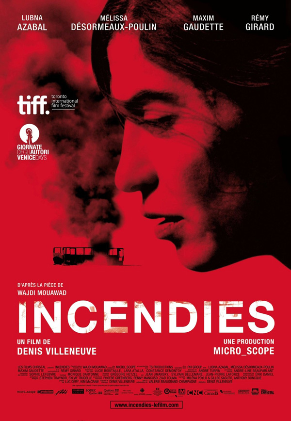 couverture du film Incendies